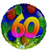 "18"" Happy 60th Birthday Floating Balloons"
