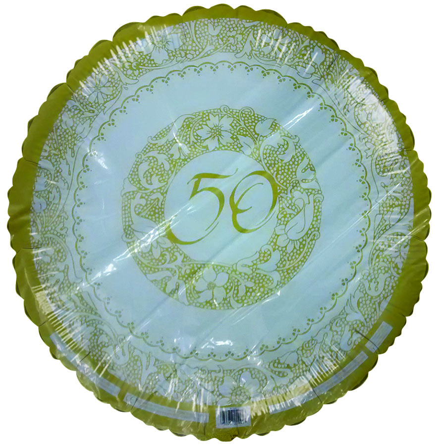 "18"" 50th Anniversary Gold Florentine"