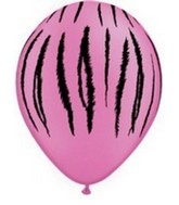 "11"" Tiger Stripes Latex balloons Neon Violet"