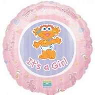 "18"" Zoe It's A Girl Balloon"