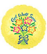 "18"" Get Well Yellow Floral"