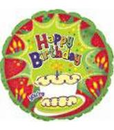 "17"" Happy Birthday Number on Cake B183 Packaged"