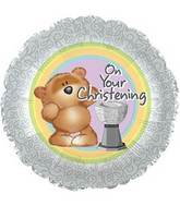 "17"" On Your Christening foil Balloon"