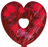 "9"" Airfill I Love You Roses Cutout"