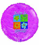 "18"" You're so special Sun Butterflies Flower Pink background"