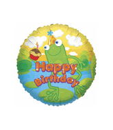 "18"" Happy Birthday with Frog Balloon"