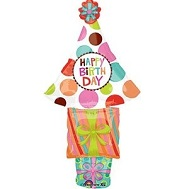 "41"" Birthday Stacker Mylar Balloon"