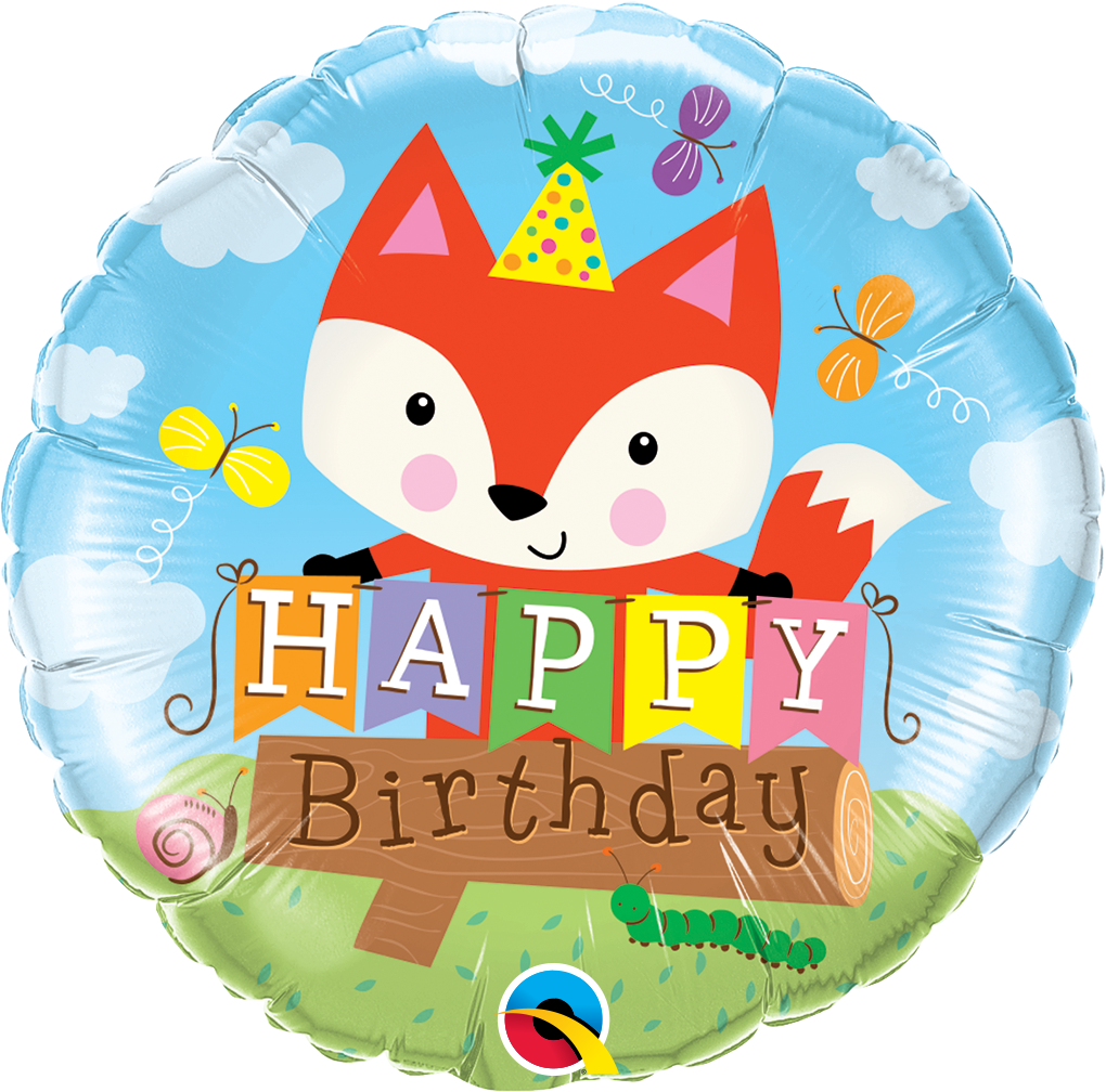 "18"" Packaged Birthday Party Fox"