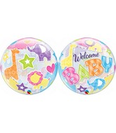 "22"" Single Bubble Packaged Welcome Baby Animals Patterns"