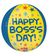 "15"" Boss's Day Yellow & Blue Balloon"