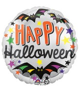 "18"" Happy Halloween Stars Balloon"