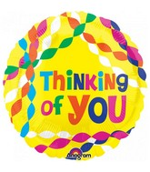 "18"" Junior Shape Thinking of You Streamers Foil Balloon"