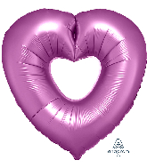 "26"" Flamingo Open Heart SuperShape Foil Balloon"