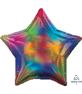 "18"" Iridescent Rainbow Star Foil Balloon"