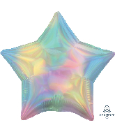 "18"" Iridescent Pastel Rainbow Star Foil Balloon"