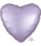 "18"" Satin Luxe  Heart  Pastel Lilac Foil Balloon"