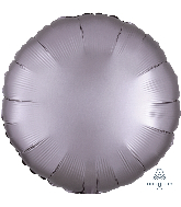 "18"" Satin Luxe Circle Greige Foil Balloon"