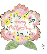 "27"" Happy Mother's Day Satin Infused Flower Foil Balloon"