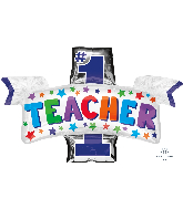 "38"" #1 Teacher Foil Balloon"