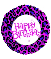 "17"" Happy Birthday Animal Print Balloon"
