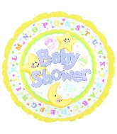 "18"" Baby Shower Star and Moon"