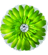 "17"" Green Gerbera Flower Foil Balloon"