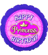 "18"" Happy Birthday Princess Pink Pearls"