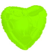 "18"" CTI Brand Lime Green Heart"