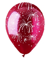 "12"" Fireworks Crystal Red Latex 50Count"