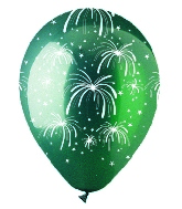 "12"" Fireworks Crystal Green Latex 50Count"