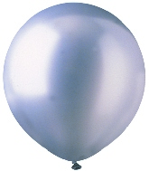"17"" Metallic Silver Latex 72 Count"