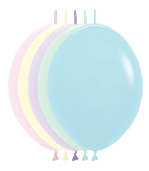 "12"" Link-O-Loon Latex Balloons Pastel Matte Assortment"
