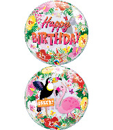 "22"" Tropical Birthday Party Bubble Balloon"
