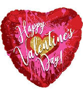 "18"" Happy Valentine's Day Abstract Heart Foil Balloon"