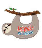 "42"" Foil Shape Balloon Hang In There Sloth"