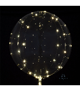 "18"" Crystal Clearz White Lights Balloon"
