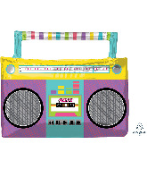 "27"" SuperShape™ Awesome Party Boombox Foil Balloon"