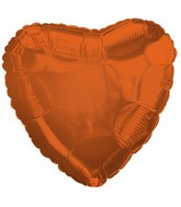 "17"" CTI Bittersweet Metallic Heart Orange Balloon"