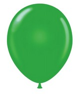 "24"" Round Green Latex Balloons 5 Count"