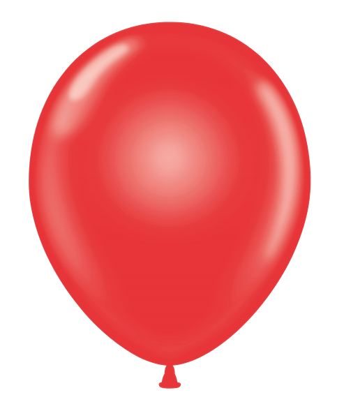 "24"" Round Crystal Red Latex Balloons 5 Count"