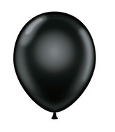 "24"" Round Black Latex Balloons 5 Count"