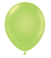 "24"" Round Lime Green Latex Balloons 5 Count"