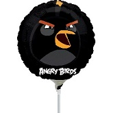 "9"" Airfill Only Angry Birds Black Bird Balloon"