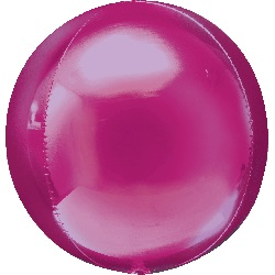 "16"" Bright Pink Orbz Balloon"