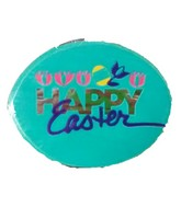 "2"" Happy Easter Tulips/Egg Airfill Balloon"