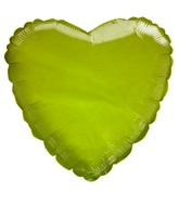 "18"" Transparent Yellow Heart Shaped Balloon"