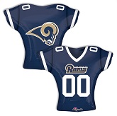 "24"" Jumbo Los Angeles Rams Jersey Foil Balloon"