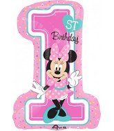 "28"" Minnie 1st Birthday Balloon"