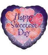 "18"" Sweetest Day Pink Hearts/Purple Script"