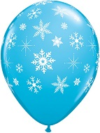 "11"" Snowflakes & Sparkles A-Round Latex (50 Count)"